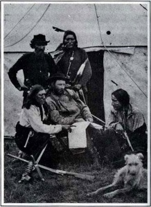 George Custer (sitting)